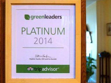 Greenleaders TripAdvisor sign