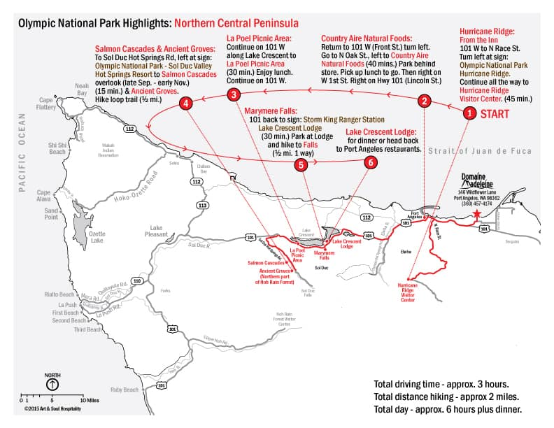 Day Trip Map: Northern Central Peninsula