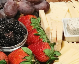 Picture of fruits and cheeses