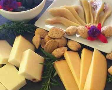 Cheese, nuts and fruit