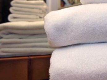 White towels neatly stacked