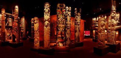 Totem poles in the Royal British Columbia Museum