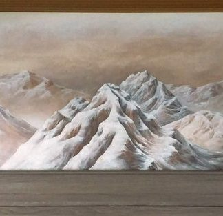 A new mural in our Hurricane Ridge Suite.