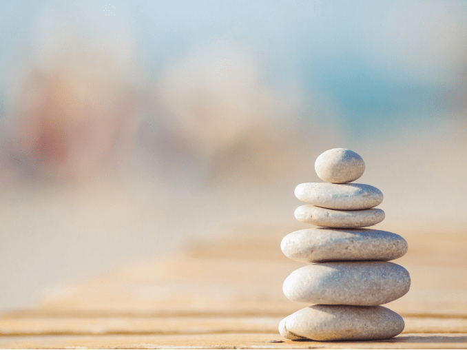 stack of stones for relaxation