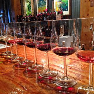 Row of wine glasses