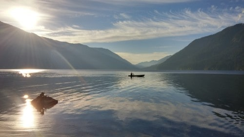 Rowing on Lake Crescent
